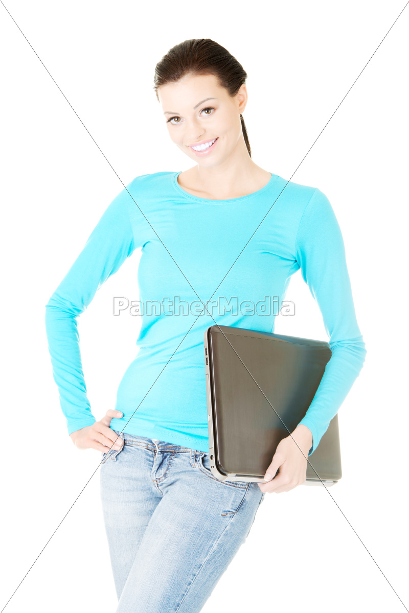 attractive, woman, with, a, laptop. - 10244901