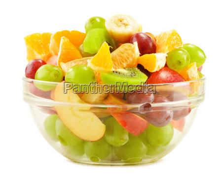 fruit, salad, bowl, isolated, on, white - 10244513