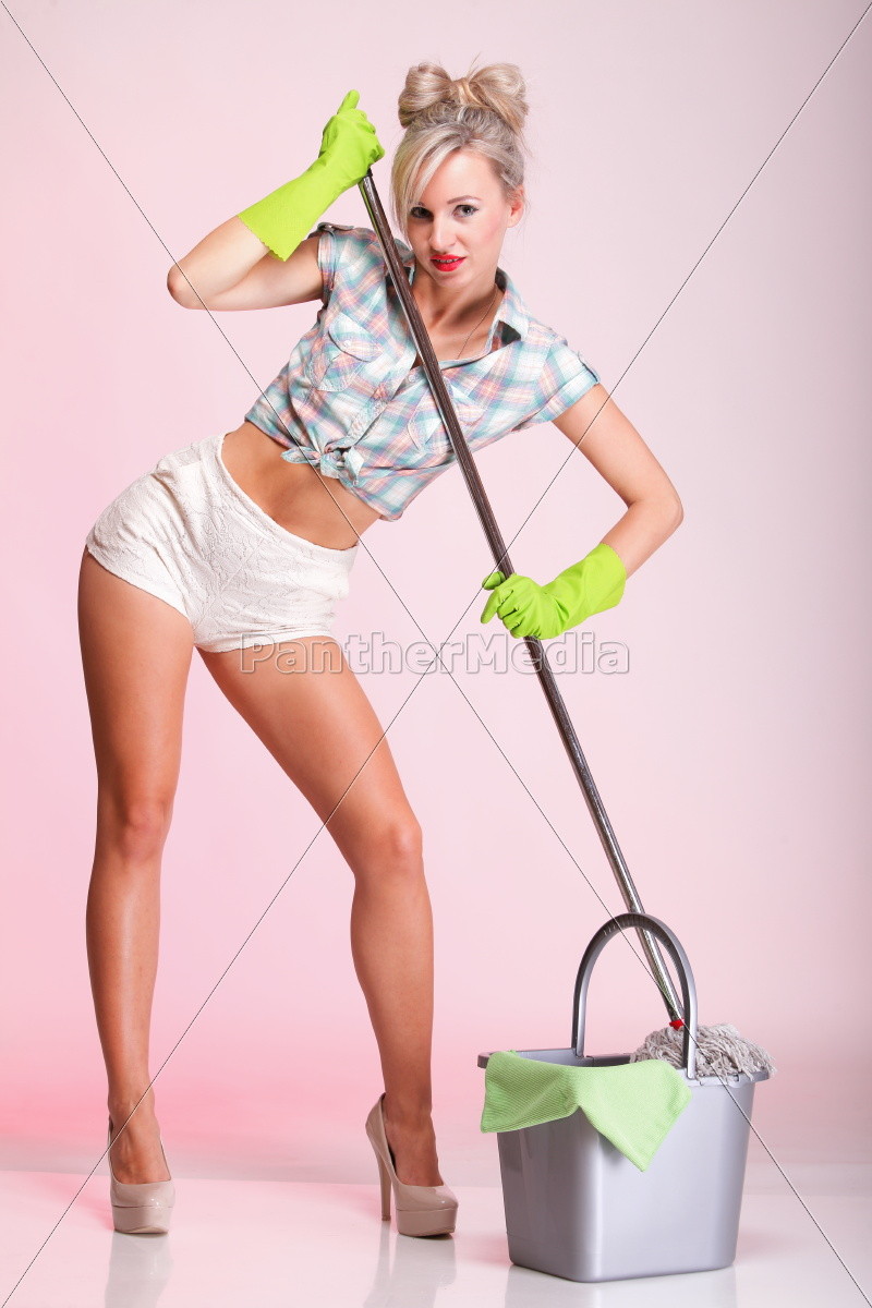 pinup, girl, woman, housewife, cleaner, portrait - 10245993