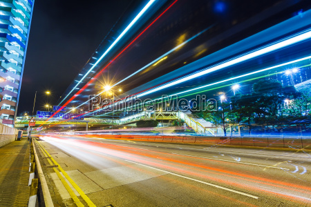 cityscape, with, traffic, trail - 10249983