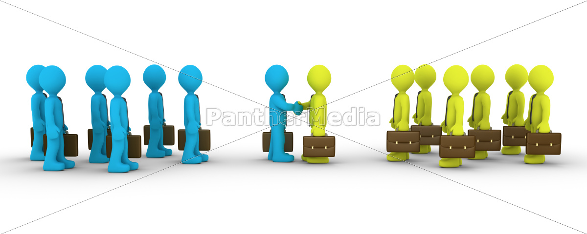 two, opposing, teams, come, to, agreement - 10249351