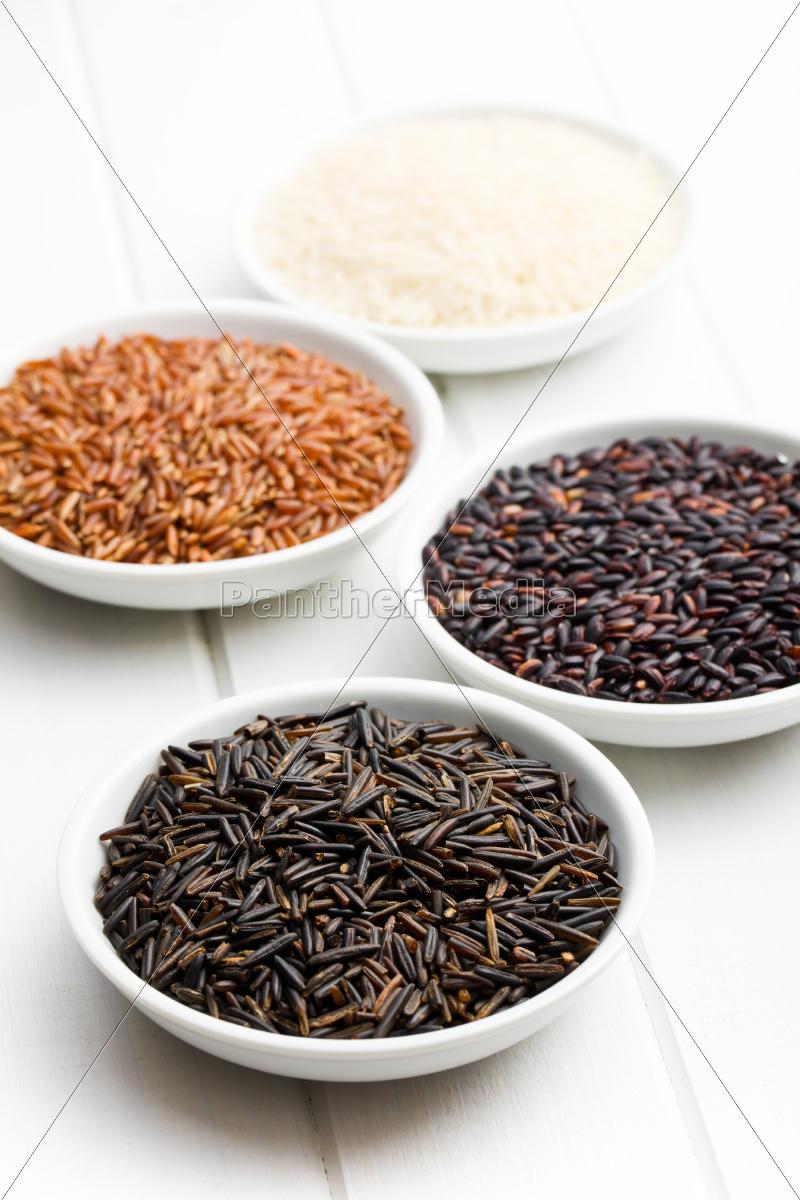 various, rice, in, ceramic, bowls - 10250303