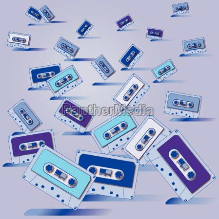 many, cassette, tapes, and, party - 10253471