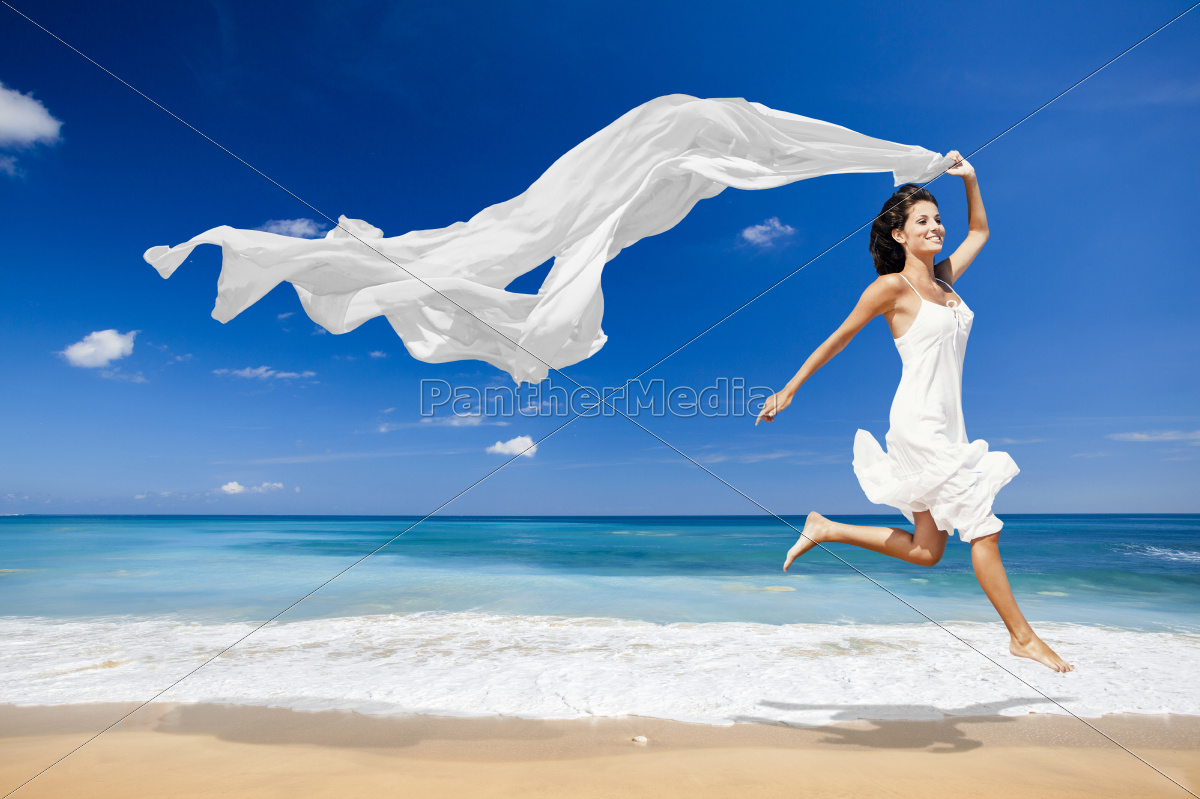 jumping, with, a, white, tissue - 10259557