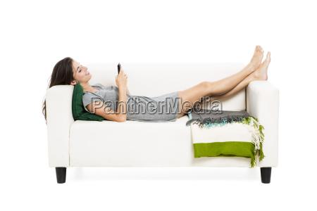 woman, sending, sms - 10259437