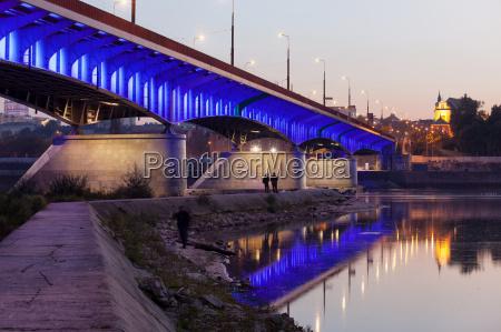 slasko dabrowski bridge in warsaw
