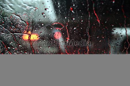raindrop on windshield