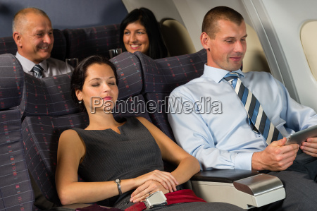 airplane, passenger, relax, during, flight, cabin - 10269329