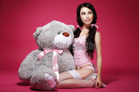 sentiment valentine young woman with soft