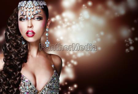 arabian, style., mysterious, woman, in, shiny - 10276901