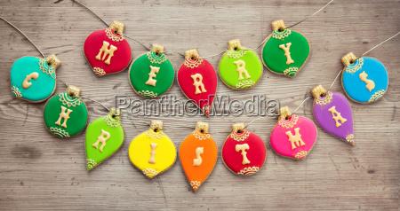 christmas bauble cookies