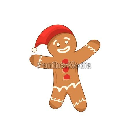 happy xmas gingerbread man