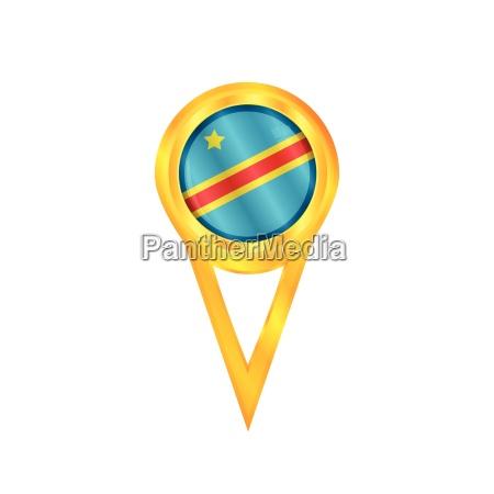 dr congo pin flag