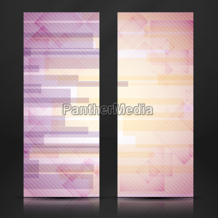 abstract pink rectangle shapes banner