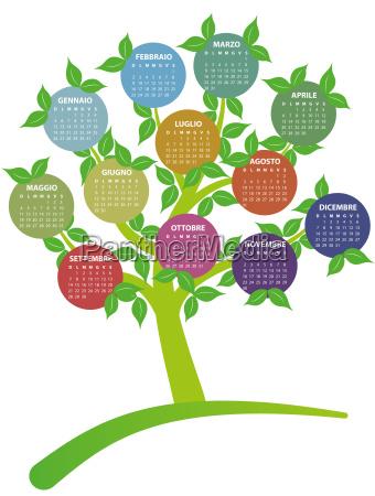 2014 calendar tree