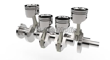 pistons, and, crankshaft - 10291945