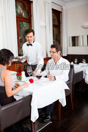 woman, and, man, having, dinner, in - 10293025