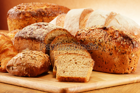 wicker, basket, with, bread, and, rolls - 10299691