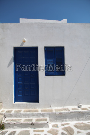 typical greek frontage