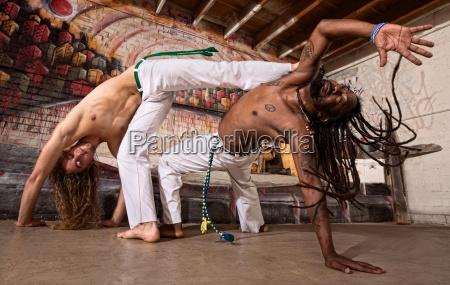 capoeira, kicking - 10300963