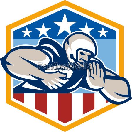 american football running back fend off