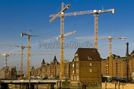 cranes construction work crane construction site