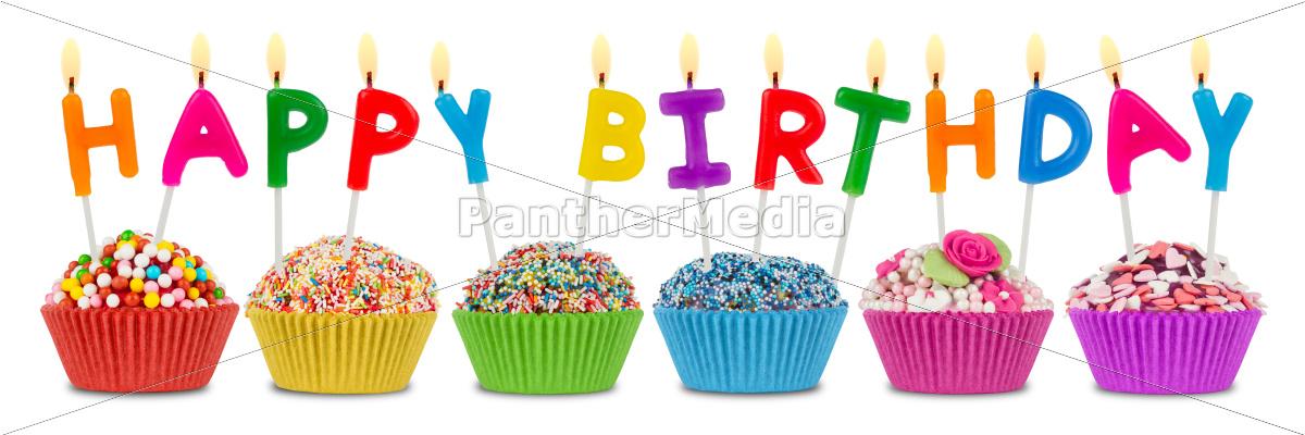 Terrific Happy Birthday Cupcakes Stock Photo 10309171 Panthermedia Funny Birthday Cards Online Eattedamsfinfo