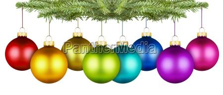 christmas balls row
