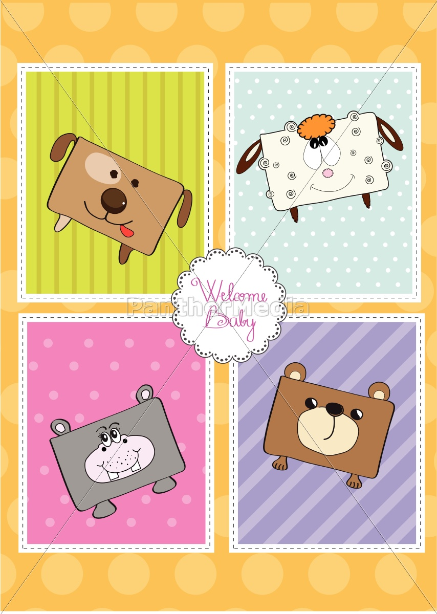 baby, shower, card, with, funny, cube - 10309043