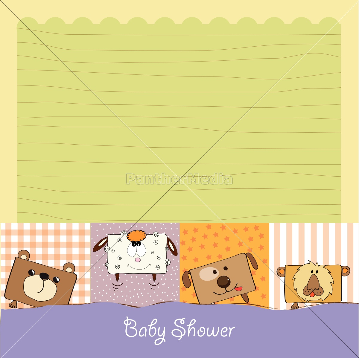 baby, shower, card, with, funny, cube - 10309049
