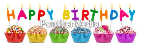happy, birthday, cupcakes - 10309171