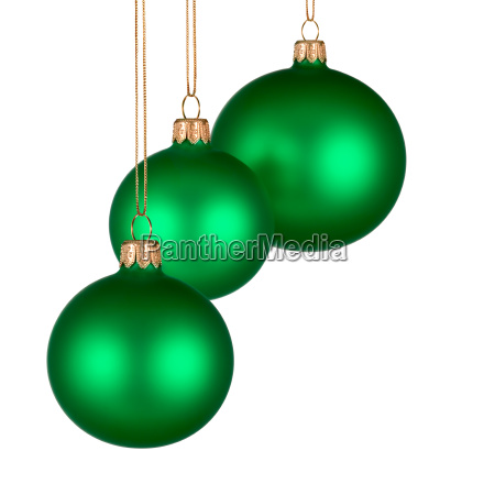 christmas ornament with 3 green balls