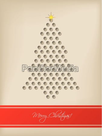 cool christmas card with tree shaped