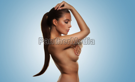 beautiful elegant nude woman