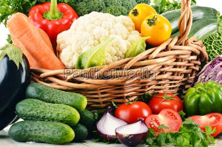 variety, of, fresh, organic, vegetables, in - 10321315