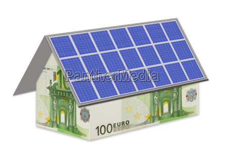 100 euro house with solar panels