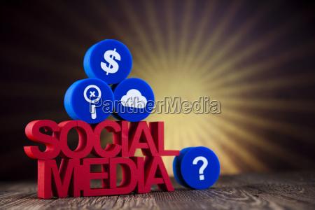 social media communication internet concept