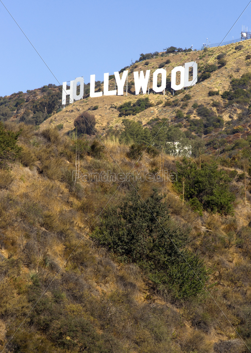 hollywood, sign, high, on, hill, wooden - 10327065