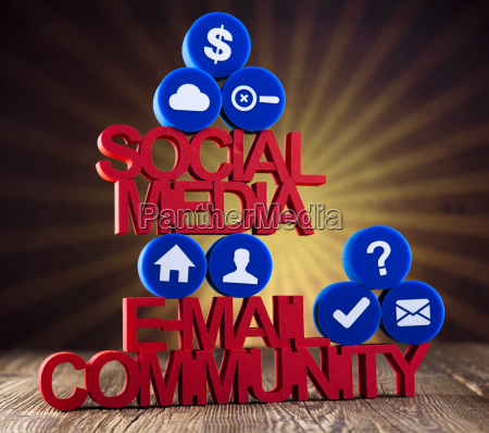 social media communication internet concept