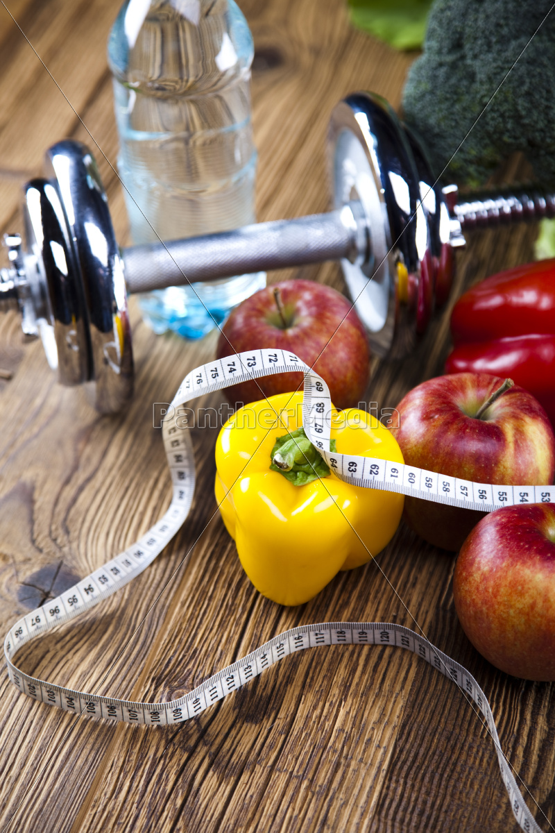 fresh, food, and, measure, tape, sport, diet - 10328689