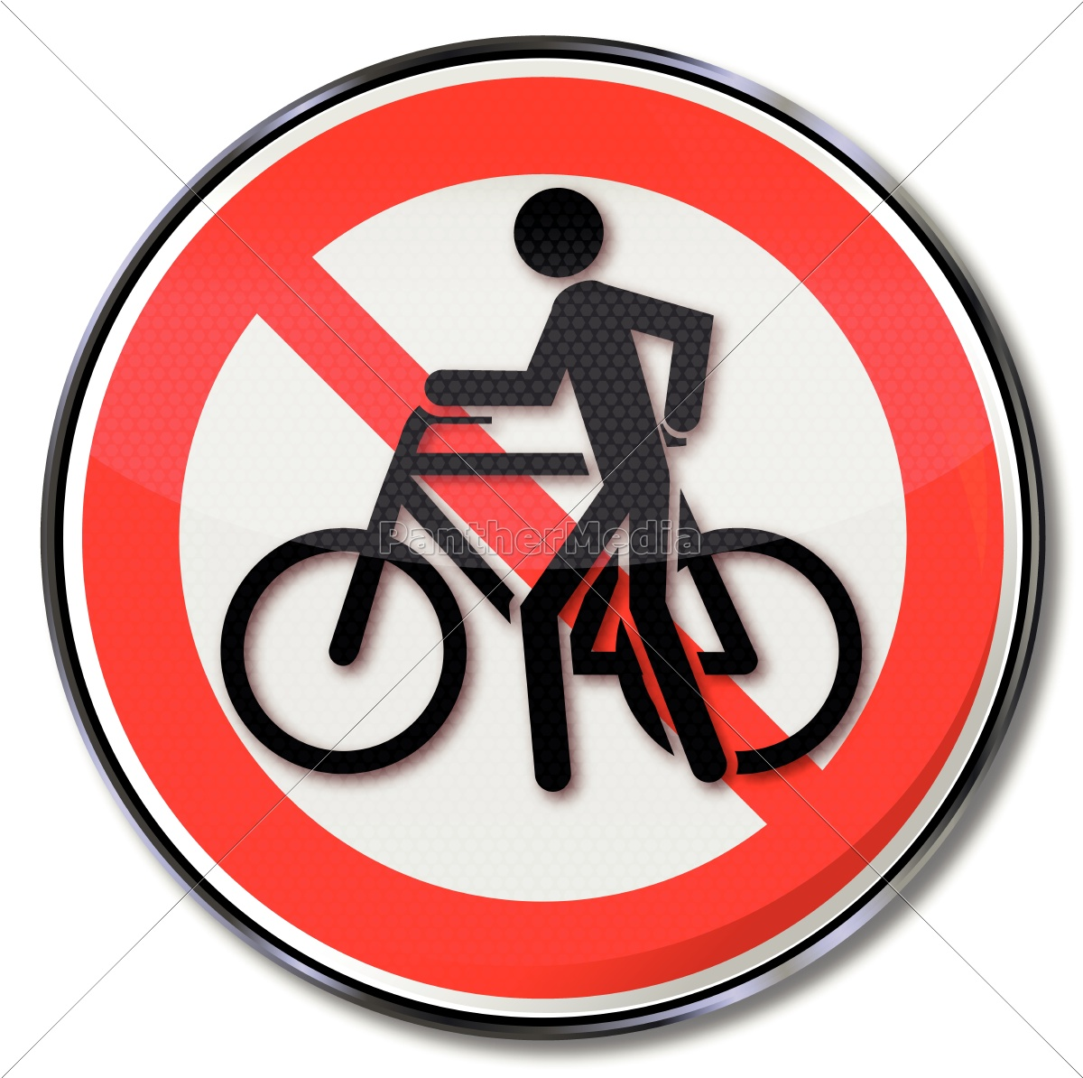 push, verbotsschild, for, cycling, and, bike - 10330697