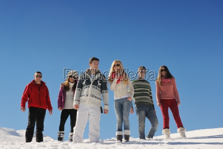 friends, have, fun, at, winter, on - 10334605