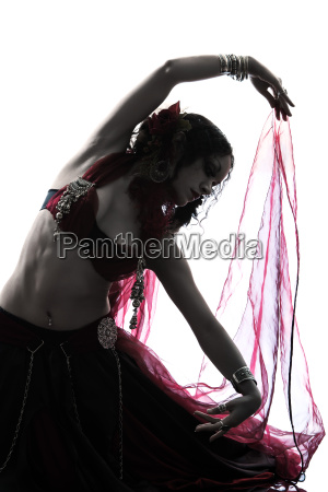arabic, woman, belly, dancer, dancing, silhouette - 10335149