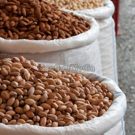 freshly harvested nuts