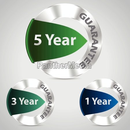 metallic warranty badges