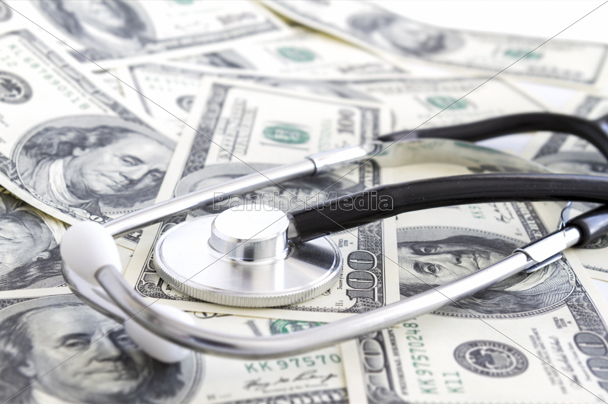 money, and, stethoscope, , medical, insurance - 10365947