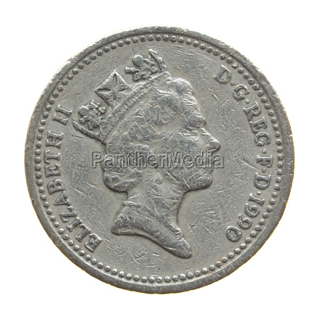 the queen on one pound coin