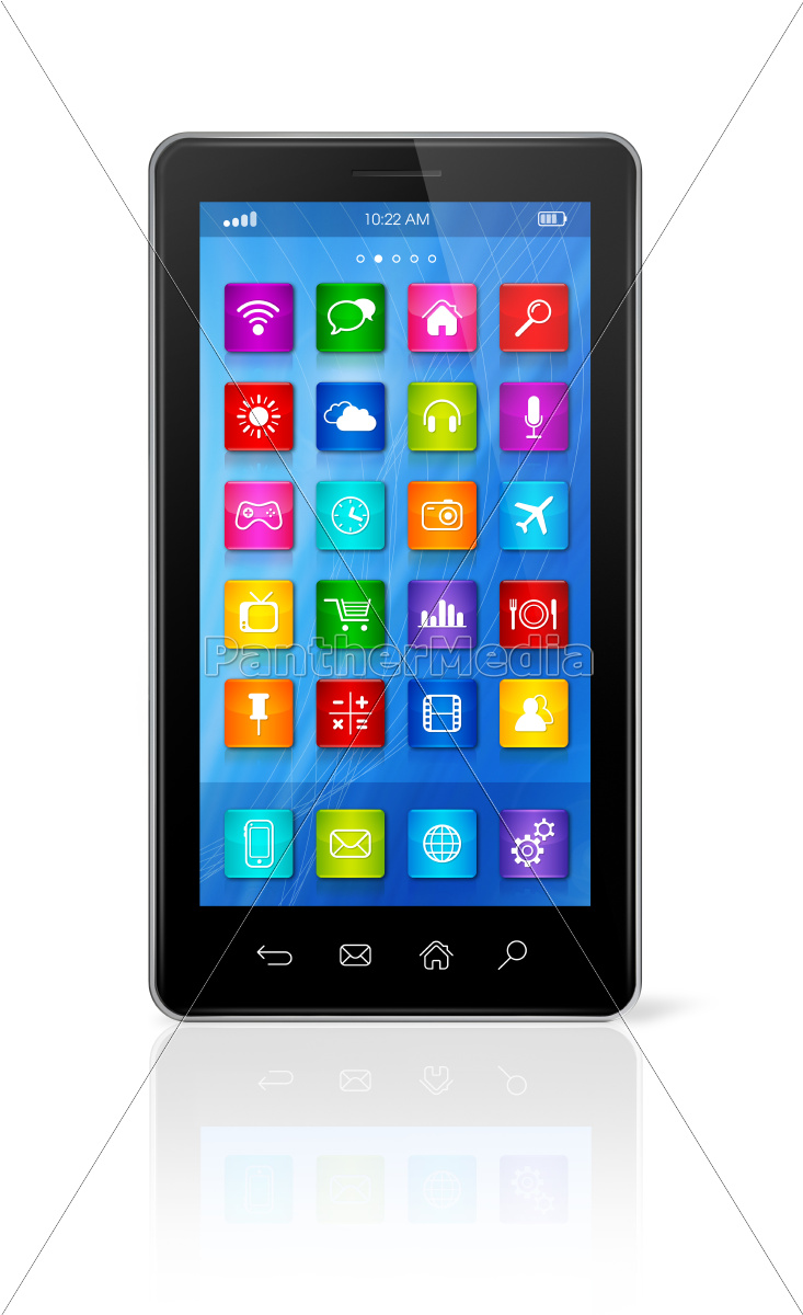 smartphone, touchscreen, hd, -, apps, icons - 10386499