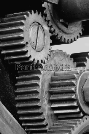 gears of a machine in the