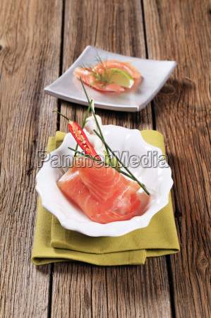 salmon, appetizers - 10399695